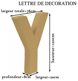 Lettre 1m20 decoration